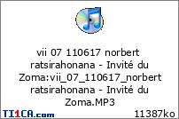 vii 07 110617 norbert ratsirahonana - Invité du Zoma