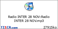 Radio INTER 28 NOV