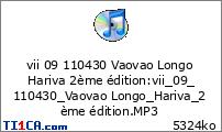 vii 09 110430 Vaovao Longo Hariva 2ème édition