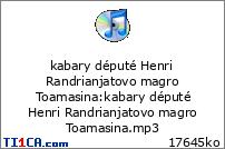 kabary député Henri Randrianjatovo magro Toamasina